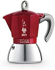 New Moka Induction Koffiemaker Rood 6t