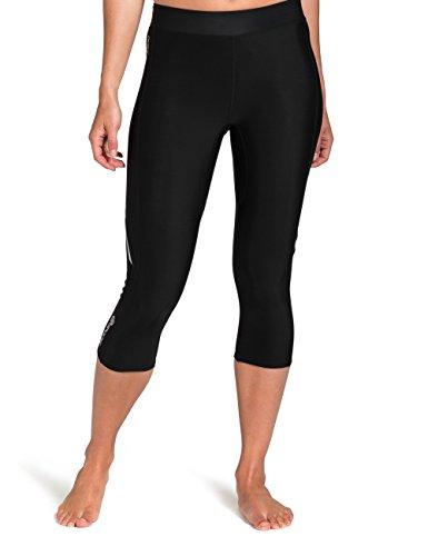 Skins Women's Thermal Compression 3/4 Capri Tights, Black/Black, X-Large