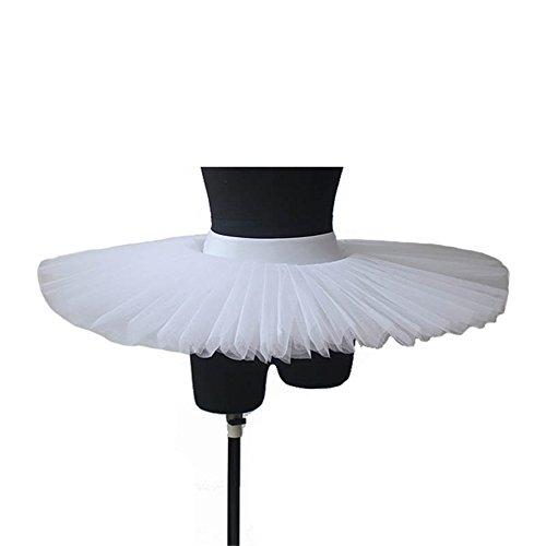 Women Ballet Professional Platter Tutus 5 Layers (S, (Platter Tutu Ballet)