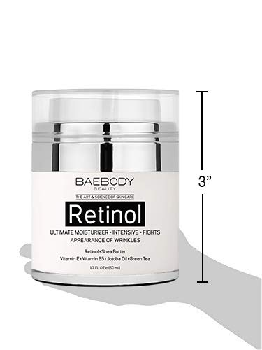 Baebody Retinol Moisturizer Cream for Face and Eye Area - With Retinol, Jojoba Oil, Vitamin E. Fights the Appearance of Wrinkles, Fine Lines. Best Day and Night Cream 1.7 Fl. Oz.