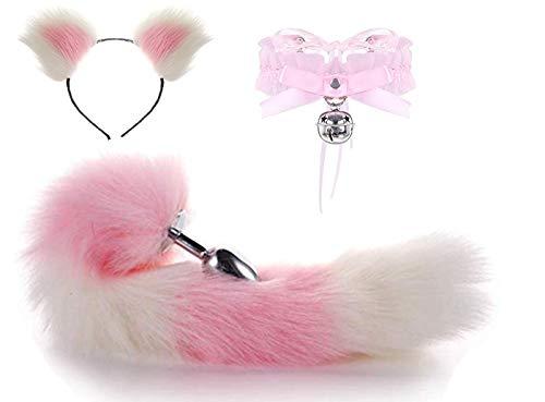 Ribbon Boyshort - Bear boys Short Plush Ears Cat Women Headdres-Fashion Dress Up Jingle Bell Choker Handcrafted Ribbon Bowknot Collar Fox Tail B-ütt an-âl Pl-ùg T-ö-ys