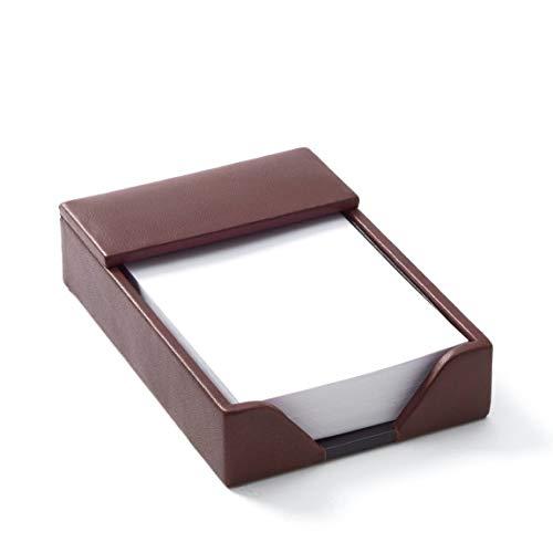 Memo Pad Holder - Full Grain Leather - Burgundy - Burgundy Holder Memo Leather