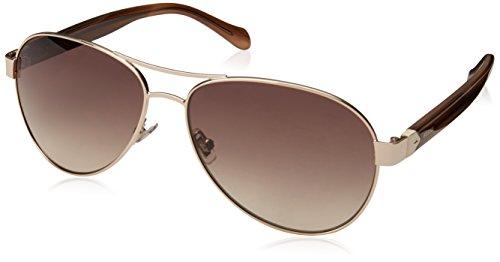 Fossil Women's Fos 3079/s Aviator Sunglasses, GDCREBRHR, 60 ()