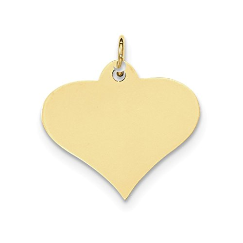 Gauge Engraveable Heart Disc Pendant Charm Necklace Love Engravable Fine Jewelry For Women Gift Set ()