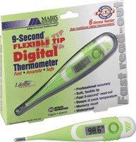 Digital Flexible Tip Thermometer,9 Sec Reading (9 Sec Flexible Tip)