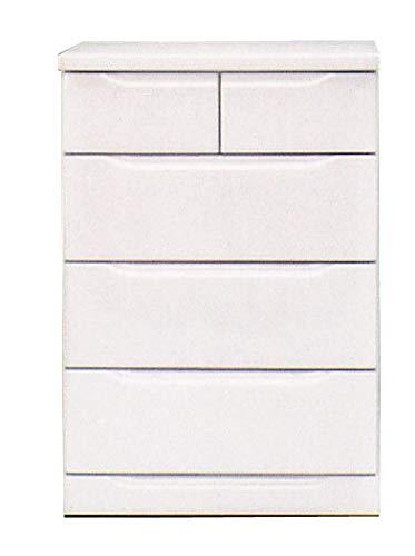 チェスト 幅120~幅45cm ローチェスト 4段 白 ホワイト 茶 ブラウン たんす 箪笥 ベスト (ホワイト, 幅60cm) B07RZWLG4F ホワイト 幅60cm