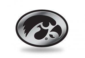 Rico Industries NCAA Iowa Hawkeyes Chrome Finished Auto Emblem 3D Sticker