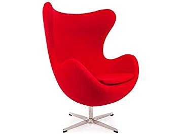 Poltrona Egg Jacobsen.Famous Design Egg Chair Arne Jacobsen Red Amazon Co Uk