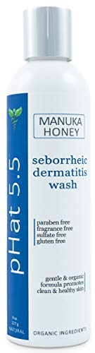 Seborrheic & Atopic Dermatitis Gentle Face Wash with Manuka Honey - Natural & Organic Face Cleanser & Body Wash For Sensitive Skin - Hypoallergenic, Paraben Free & Sulfate Free Acne Face Wash (8 oz)