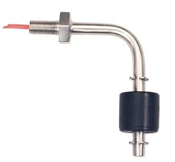 Gemas sensores 117712 único punto doblado tallo nivel interruptor de flotador de acero inoxidable 316,