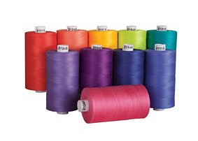 - Connecting Threads 100% Cotton Thread Sets - 1200 Yard Spools (Fruit Salad - set of 10)