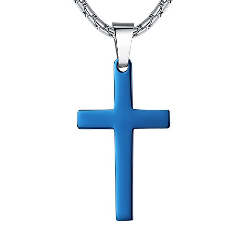 stainless-steel-cross-religious-pendant-necklace-unisex-blue-color-21-chain-ddp009la
