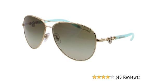 7894bf48ebe Amazon.com  Tiffany TF3034 60213M Pale Gold TF3034 Pilot Sunglasses Lens  Category 2 Size 60  Tiffany  Shoes