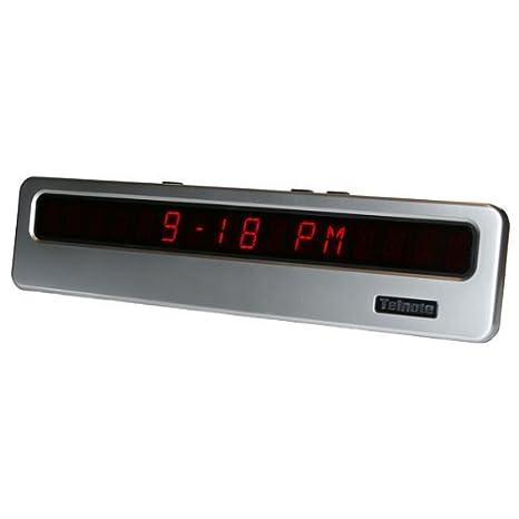 Telnote tamaño Extra grande 14 cm de ancho reloj Digital y identificador de llamadas – estante