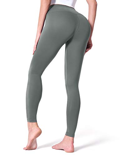 CELER Women's High Waisted Workout Leggings Buttery Soft Tummy Control Yoga Pants, Sage Green M