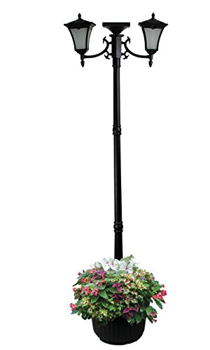 Outdoor Lamp Post Planter - 9