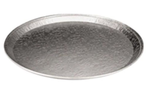 18'' Round Flat Aluminum Foil Catering Tray 50 Pack - Disposable Foil Serving Pan by Osislon Series