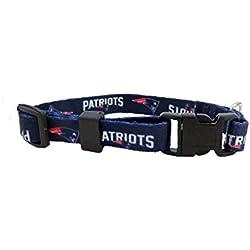 NFL New England Patriots Team Pet Collar, TeaCup, Blue