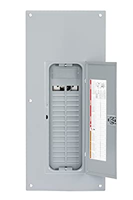 Square D by Schneider Electric HOM3060L225PC Homeline 225 Amp 30-Space 60-Circuit Indoor Main Lugs Load Center with Cover (Plug-on Neutral Ready), ,