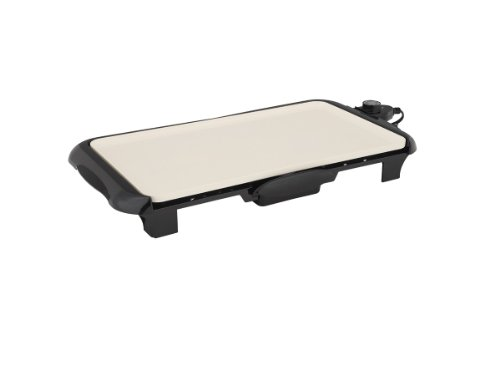 Oster Titanium Infused DuraCeramic Griddle with Warming Tray, Black/Crème (CKSTGRFM18W-TECO) by Oster (Image #14)