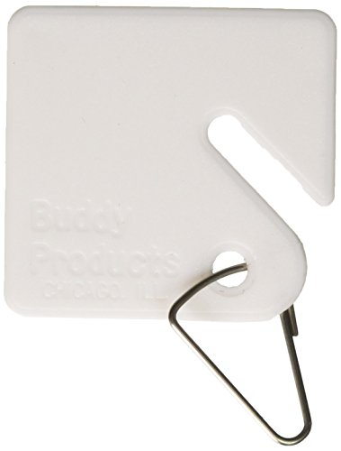 Buddy Products Blank Plastic Key Tags, White, Set of 100 (0017) ()