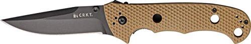 CRKT Hammond Cruiser Folding Knife, 3.75in, Black Stainless Clip Point, Desert Tan 7904DBLK BLADE