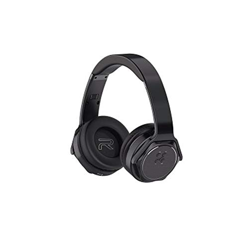 (PXYUAN (Series II) Wireless Over Ear Headphones, Foldable Wireless and Wired Stereo Headphones Buit in Mic, Adjustable and Immersive Stereo Haptic Bass-Black)
