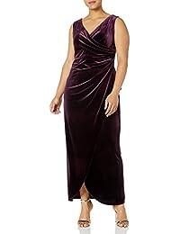 Women's Plus Size Long Velvet Dress