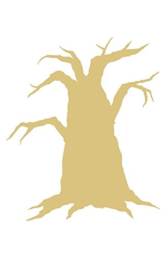 Spooky Tree Style 1 Unfinished MDF Wood Cutout Variety of Sizes USA Made Halloween Decor (12