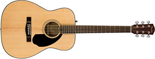 Fender CC-60S Right Handed Acoustic-Electric Guitar – Concert Body Style – Black