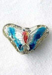 This is for 5 Aqua Blue! Cloisonne Butterfly Pendant Beads 8635D Spacer Beads and Roll Crystal String for Bracelets Jewelry Making
