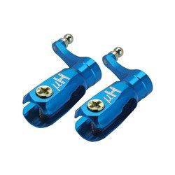 Aluminum Triple Bearing Main Blade Grip, Blue: Blade Nano CPX/CPS/S2