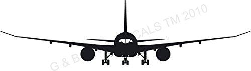 AIR PLANE JET 787 747 JETLINER JUMBO JET VINYL WALL DECAL STICKER MURAL HOME DECOR ()