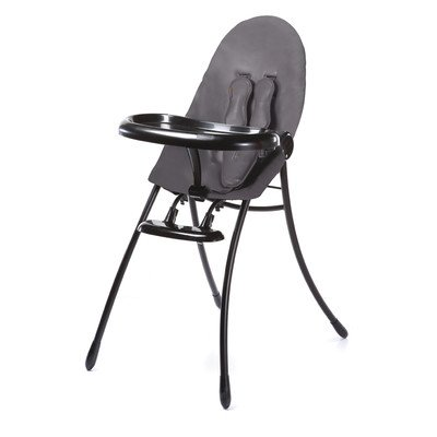 Nano Urban Foldable High Chair Frame Finish: Black, Seat Color: Snakeskin Grey