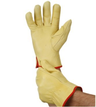 Hardy Full Grain Leather Work Gloves - Large