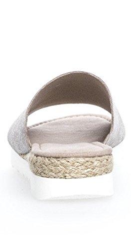 femmes supplémentaire 740 shoe sandales dans Sabots espace silber 6 Chaussures 11 Silber The Jute pour Gabor 62 mules pour femmes EU xw7pCqv
