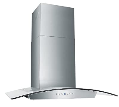Z Line KZ-30-LED Stainless Steel Wall Mount Range Hood with Glass/Baffle Filters