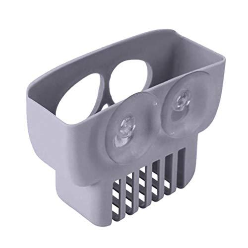 GoodLock Halloween Skull Drain Storage Rack Double Suction Cup Sink Sponge Holder Kitchen Bathroom (Gray) -