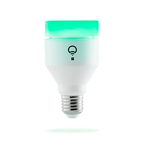 LIFX + A19 Wi-Fi Smart LED Light Bulb, Indoor/Outdoor, Infrared, Color Change, Dimmable, No Hub Req, App & Voice Control, Works with Amazon Alexa, Apple HomeKit, Google Assistant, & Microsoft Cortana