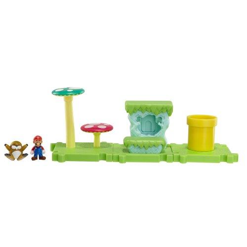NINTENDO Mario Bros Universe Micro Land Wave 1: Acorn Plains with Mario Playset, 3-Pack