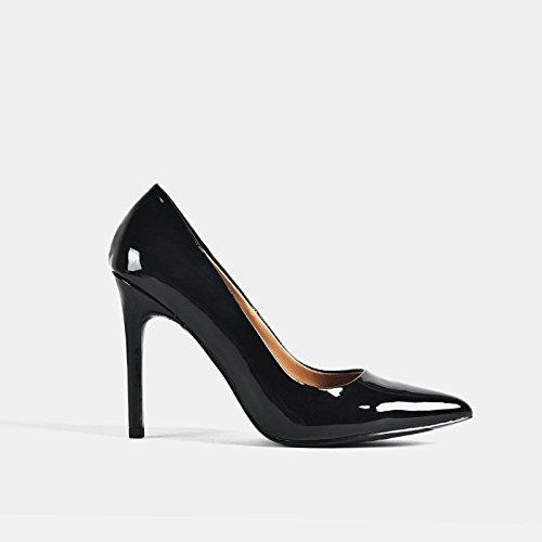 Talón Negro Alto Mujer Zapatos Profesional Trabajo GAOLIM De Pintada Zapatos 10cm Superficial Boca 8 Zapatos De Punta 10Cm De De Fina Con Zapatos De De Solo Cm wXpY4Aq4