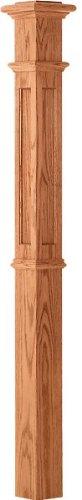 LJ-4394 Red Oak Recessed Panel Intermediate 4 1/4