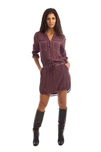 Borgogna maglietta vestito