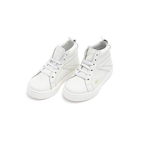 Freshly Picked - Little/Big Girl Boy Kids Leather High Top Sneaker - Size 7 White (Picked Freshly)