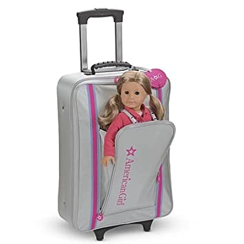 Amazon.com: American Girl One-piece Rolling Suitcase for Girls ...