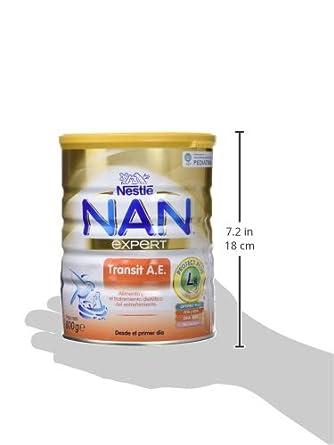 NAN Transit AE - Alimento en polvo para lactantes con estreñimiento - Fórmula para bebé - Desde el primer día - 800g
