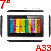 8GB MID Tablet PC Allwinner A33 QUAD CORE 7'' Inch Android 4.4 KitKat Multi Touch Screen G-Sensor suported New!! (Blue)