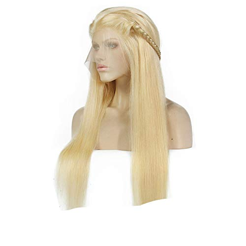 #613 Blonde Wigs 180% Density Silky Straight Brazilian Remy Human Hair lace front Wig,#613,18inches,180% -