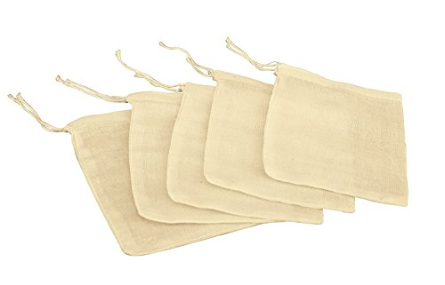 Natural Muslin Drawstring Bags 3
