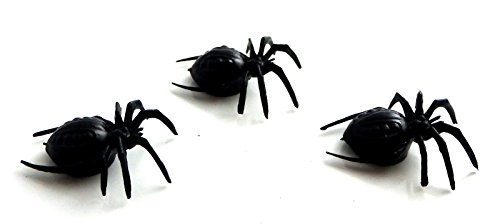 Doll Halloween Decor (Melody Jane Dolls Houses House Miniature Halloween Shed Garden Accessory 3 Huge Scary Spiders)